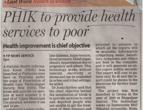 Health ATM (PHIK) to Provide Health Services to Poor