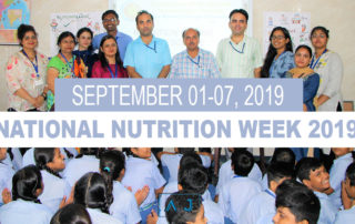 National Nutrition Week 2019, September 01-07